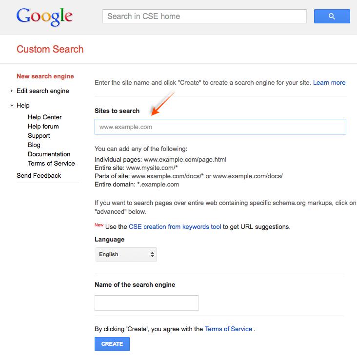 Custom Google Search: Google Custom Search